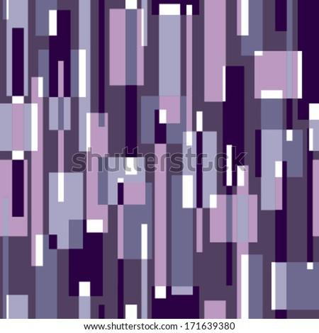 rectangles purple, white seamless pattern on dark violet