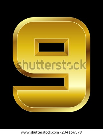 rectangular beveled golden font