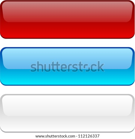 Rectangular buttons in different colors.
