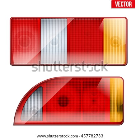 rectangular car taillight rear