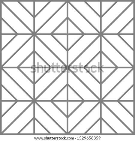 rectangular line seamless pattern background. Vector illustration style grey and white