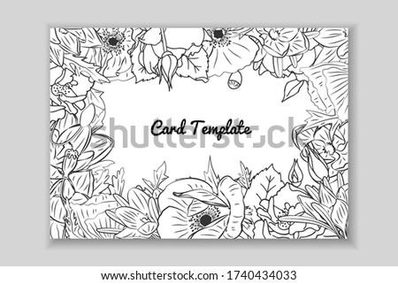 rectangular monochrome card