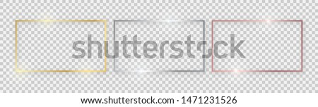 rectangular shiny frames with