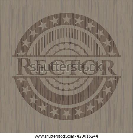 Rector realistic wooden emblem