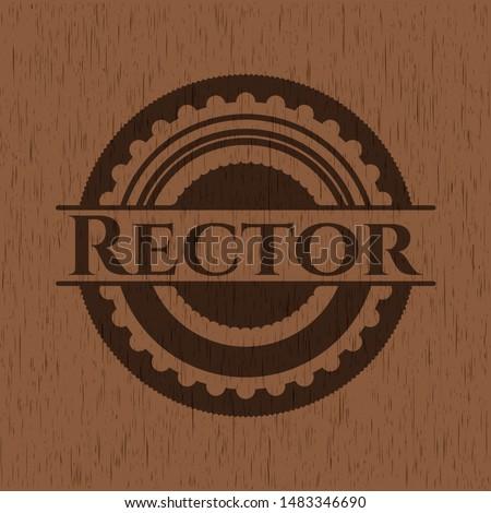 Rector wooden signboards. Vector Illustration.
