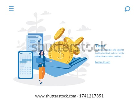 Recurring deposit. Creating investment account. Vector illustration for web banner, infographics, mobile. Regular payments, timed banking charges.