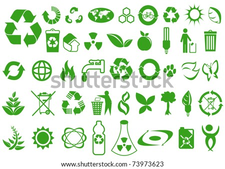 Recycle and ecology icons collection