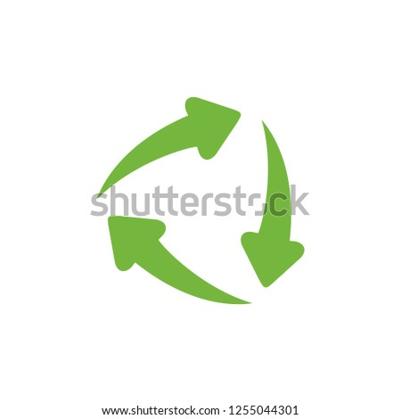 Recycle arrows vector logo. Recycle icon. Recycle sign