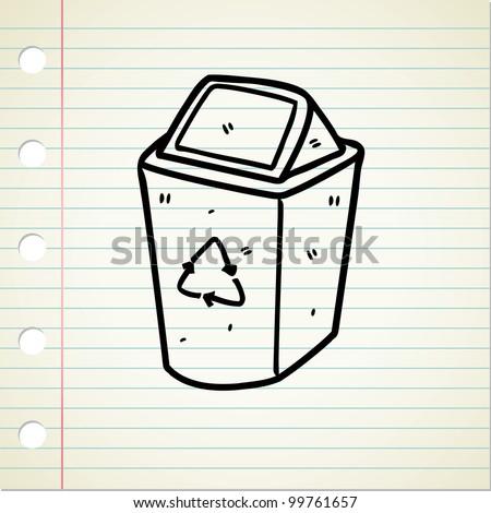 recycle bin doodle