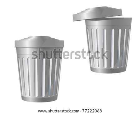 Recycle bin icon in two variations isolated on white. Jpeg version also available in gallery