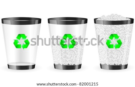 Recycle bin on white background. Vector illustration.