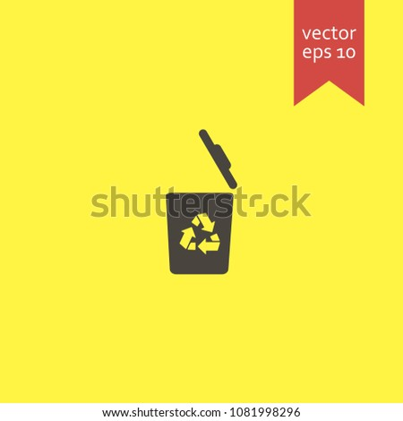 recycle bin. recycle bin icon. sign design. Vector EPS 10