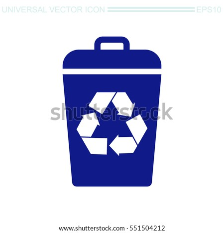 Recycle bin vector icon. Reuse or reduce symbol.