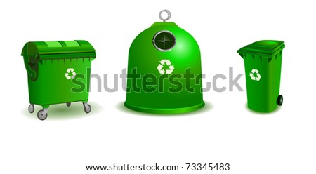 Recycle bins - two bigger and a small one