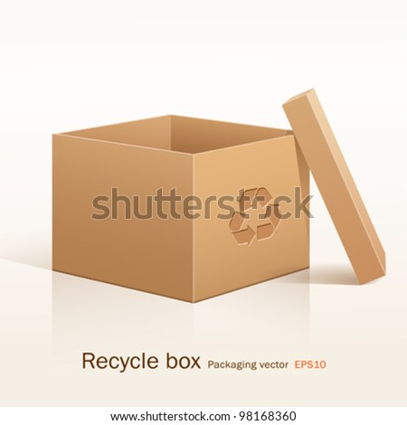 Recycle box, vector illustration