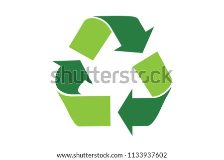 Recycle Eco symbol vector illustration isolated on white background. Recycled sign. Cycle recycled icon. Recycled  symbol