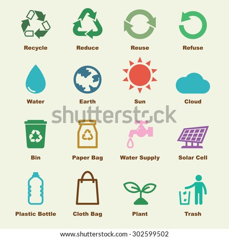 recycle elements, vector infographic icons