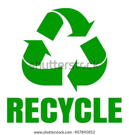 Recycle green symbol. Sign of recycling. Waste recycling. Environmental protection. Vector icon, illustration isolated on white background