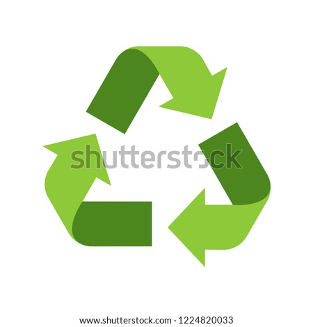 recycle icon 3d with green color