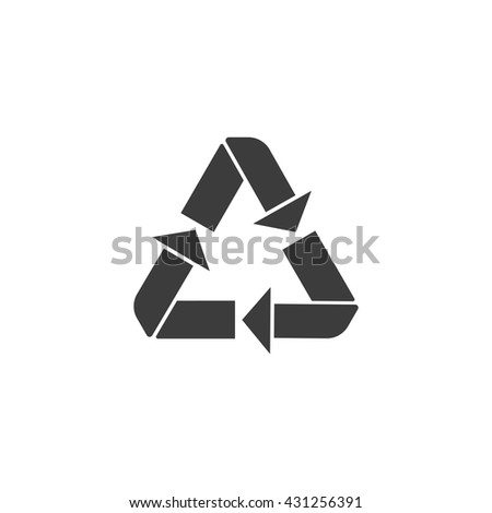 Recycle icon. Flat vector illustration in black on white background. EPS 10