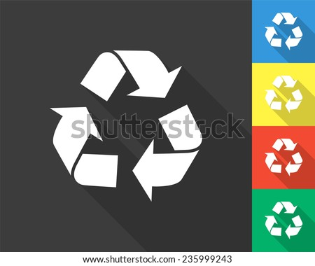 recycle icon   gray and colored