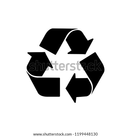 recycle icon in trendy flat style isolated on background. recycle icon page symbol for your web site design recycle icon logo, app, UI. recycle icon Vector illustration, EPS10, Premium.