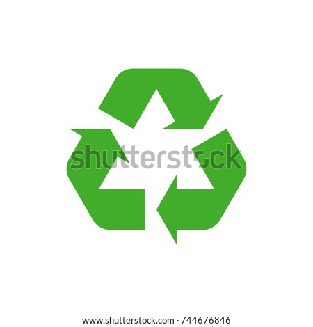 Recycle icon, Recycle icon vector, in trendy flat style isolated on white background. Recycle icon image, Recycle icon illustration