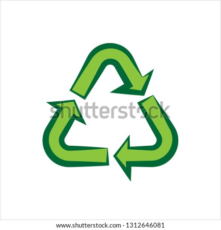 Recycle Icon, Recycle Sign Vector Art Illustration
