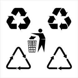 recycle icon set, vector eps10.