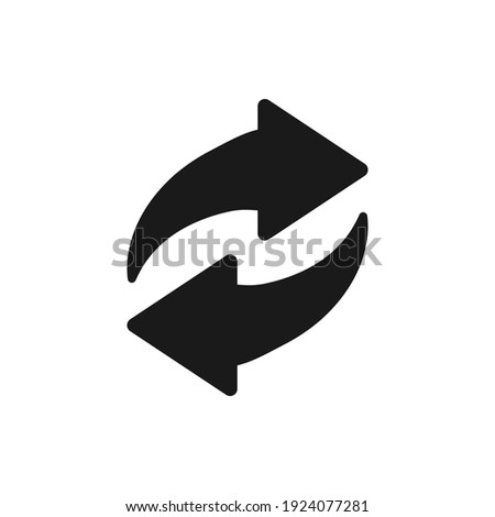 Recycle icon vector. Best recycle symbol. Isolated on a blank background. Can be edited and changed colors.  Stock photo ©