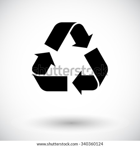 Recycle icon vector. Flat icon isolated on the white background. Vector illustration.