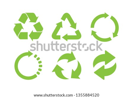 Recycle icon vector. Recycle Recycling set symbol vector