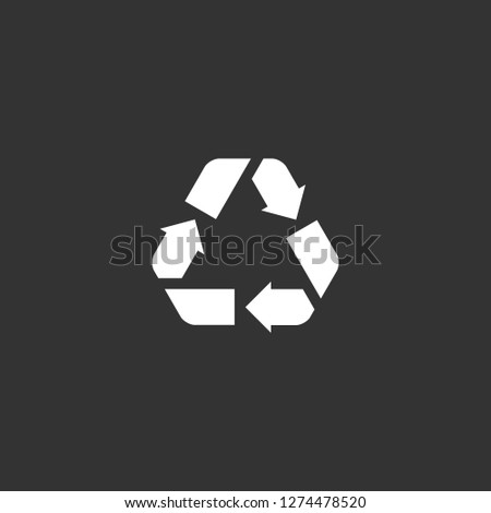 recycle icon vector. recycle vector graphic illustration
