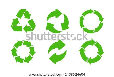 Recycle icon vector. Recycle vector symbols.