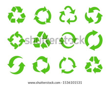 Recycle icon vector. Recycle vector symbols. Foto stock ©