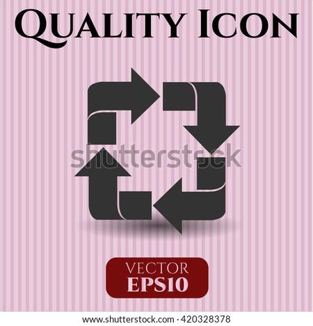 recycle icon vector symbol flat eps jpg app web concept website