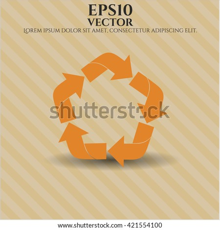 recycle icon vector symbol flat eps jpg app web concept website