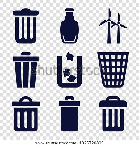 recycle icons. set of 9...