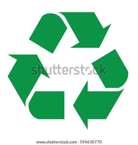 Recycle logo in vector in issolated background