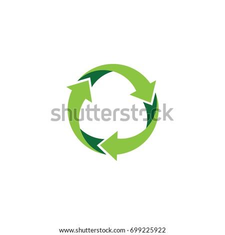 Recycle logo vector logo design