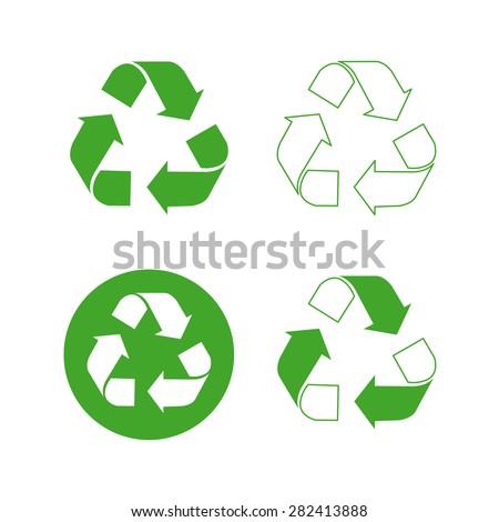 Recycle logo vector set