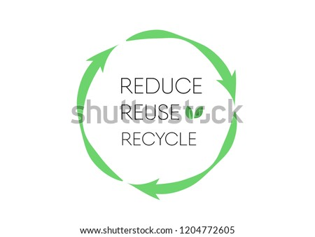 Recycle logo with text