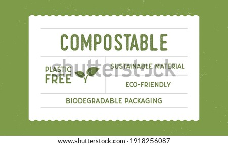 Recycle packaging - vintage label template. Eco, Bio product vintage packaging design. Recycle label, tag, sticker design for packaging. Hipster vintage old label template. Vector illustration