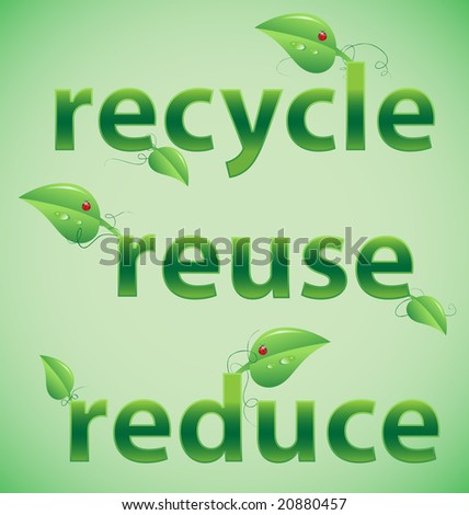 reduce recycle reuse. stock vector : Recycle, reuse,