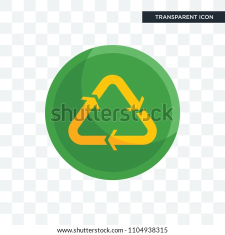 recycle reuse uce vector icon isolated on transparent background, recycle reuse uce logo concept