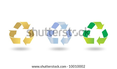 recycle sign icon vector illustration