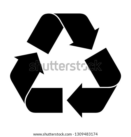 Recycle sign isolated on white background. Recycle icon vector
