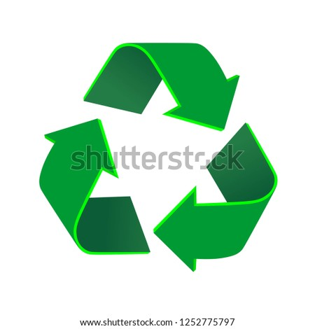 Recycle sign isolated on white background vector illustration
