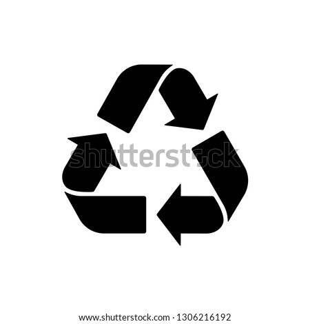 Recycle sign Vector icon. Trash symbol. Eco bio waste concept. Arrow sign isolated on white, flat design for web, website