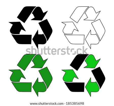symbol vector for recycle symbol rh vecteezy com vector recycle logo free recycle logo vector ai